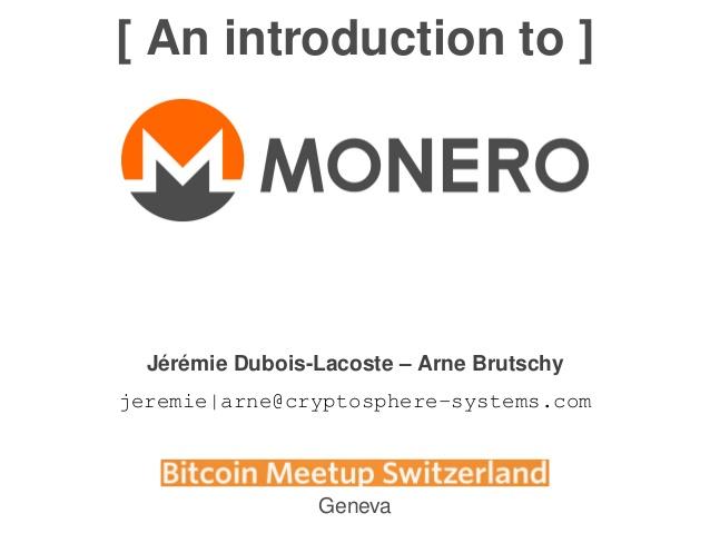 Monero presentation