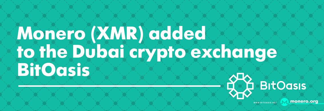 Monero XMR was listed on BitOasis