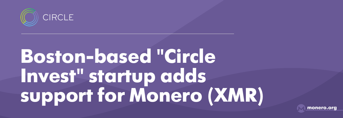 Circle added support for Monero