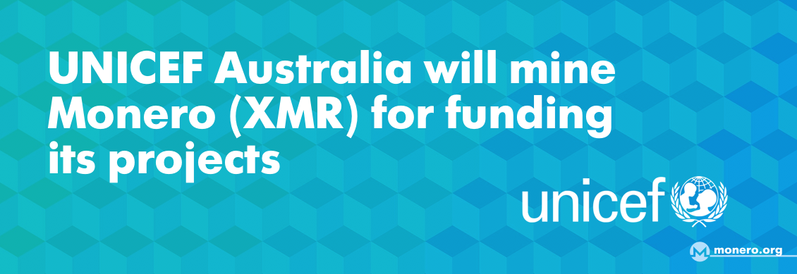 UNICEF Australia and Monero (XMR)